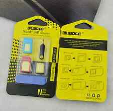 Nano SIM Card to Micro Standard Adapter Adaptor Converter Set For iPhone6 5 4S 4