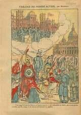 Caricature Maçonnique Société des Nations Palais Wilson Genève 1921 ILLUSTRATION