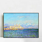 """Framed Canvas Antibes,Afternoon Effect(1888) by Claude Monet 24""""x32"""""""