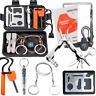 Survival Kit Camping Outdoor Emergency Gear Kits Tool Hiking Field Disast, Black