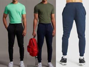 Mens Joggers Cuffed Sweatpants Gym Slim Fit Fleece- Organic Jogging Bottoms
