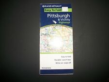 PITTSBURGH & vICINITY  Highways  Map  Rand McNally  2006  LAMINATED  NEW