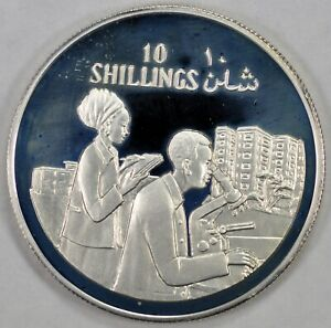 somalia 1979 silver proof 10S 10th Anniv. of Independence