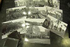 10 anciennes photos & negatifs plaque alger algerie 1910 defile zouave militaire
