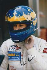 Desire WILSON SIGNED Portrait FORMULA 1 Driver 12x8 Photo AFTAL COA Autograph