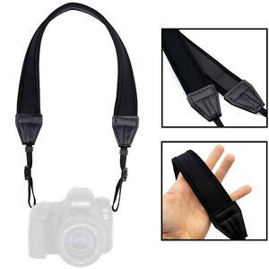 Kameragurt Neopren gepolstert: Schultergurt passend für Canon, Nikon, Sony, Fuji