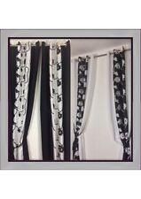 Cortinas y visillos color principal negro salón