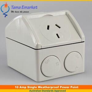 10 Amp Mini Single Weatherproof GPO Power Point Socket