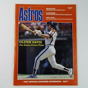 Baseball MLB May 1987 Houston Astros Official Souvenir Scorebook Program