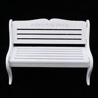 Miniature Fairy Garden Wooden Bench for 1/6 DollHouse Furniture Decoration