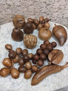 Vintage Wooden Fruit Decor