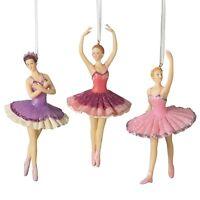 Ballerina BALLET DANCER Purple Pink Cherry Red Christmas Ornament Gift 953747