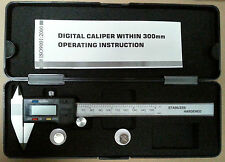 """Digital Calipers Pointed Jaws 150mm / 6"""" 3-key type"""