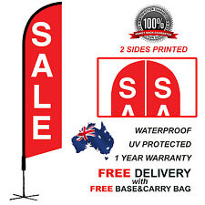 5m RED SALE Feather Bow Flag Banner Kit Outdoor real estate SALE340