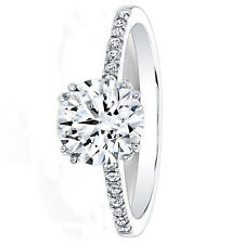 0.63 Ct Round Cut Diamond Engagement Ring 14K Real White Gold Rings Size N O P