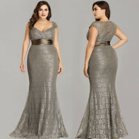 Ever-pretty US Long Mermaid Plus Size Cocktail Prom Gowns Evening Party Dresses