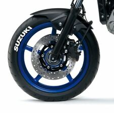 Suzuki white tire stickers , tire decals, lettering for motorcycle, 10 pack