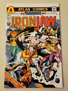 BARBARIANS #1 feat IRON JAW by Atlas (1975) first & only) app & origin Andrax.