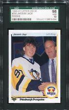Jaromir Jagr 1990-91 Upper Deck UD #356 RC Rookie Card SGC 98 Gem Mint Penguins