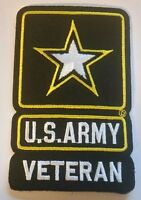 """US ARMY  STAR VETERAN PATCH  Iron / Sew-on Patch  4"""" X 2.5"""" approx"""