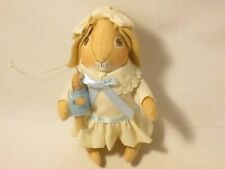 Gladys Boalt Summer Rabbit with Friend Christmas Cloth Ornament 1986