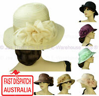 Women Ladies Spring Race Cocktail Church Wedding Funeral Evening Fashion Sun Hat