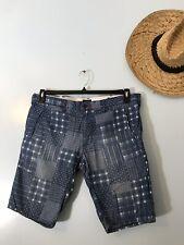 Armani Jeans S03 Slim Denim Patchwork Print Shorts Mens 34