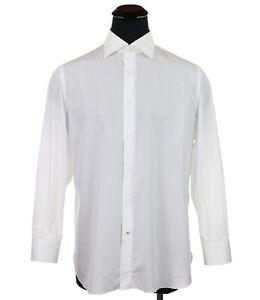 Isaia Napoli Dress Shirt White Men's Size 17 - 43cm Made in Italy