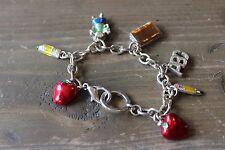 Teachers Charm Bracelet 7 inch Silver School