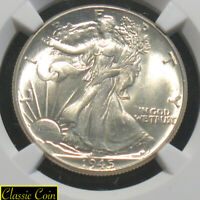 1945 Silver Walking Liberty Half Dollar 50c NGC MS63 90% Silver Nice Eye Appeal