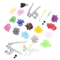 Snap Pliers 150 Set T5 Plastic Resin Press Stud Button Fastener Cloth Diaper #4A