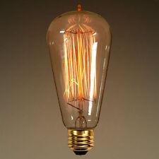 Vintage Antique Retro Style Light Filament Edison Lamp Bulbs Teardrop Squirrel