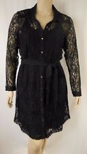 City Chic Black Lace Long Sleeve Sweet Collar Dress Plus Size XS 14 BNWOT #C1073