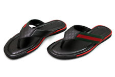 Gucci Black Leather Thong Sandals (Style 268670 A9LA0 1061) (New)