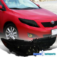 2009-2010 Toyota Corolla LE/S/XLE/XRS Replacement Smoke Headlights Driving Lamps