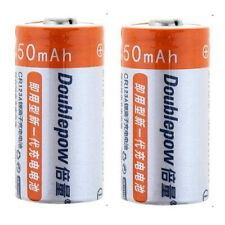 Doublepow CR123A 450mAh Li-On Rechargeable Battery (2 Pieces)
