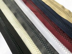 CHUNKY CONTINUOUS ZIPPER NO.10 PLASTIC HEAVY DUTY ZIP FOR TENT, GAZEBO, BOAT ETC