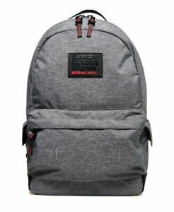 Superdry Mens Hollow Montana Rucksack Essentials Bag Light Grey Travel Rucksack