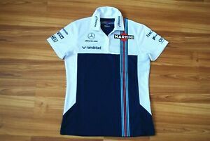 WILLIAMS MARTINI RACING BY HACKET LONDON FORMULA ONE POLO SHIRT SIZE WOMENS 10 S
