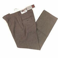 FEZ Andrew Fezza Men's Dress Pants Black White Pin Dot Flat Front Trousers 30x30