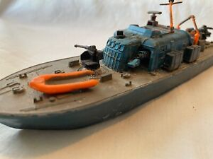 """Rare vintage """"DINKY"""" Toys diecast Motor Patrol Boat Ship 70's made in England"""