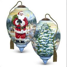 Neqwa ne'qwa Art Dona Gelsinger Santa Coming To Town Ornament LmtEd 2017 7171117