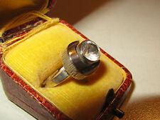 Vintage Ring Bergkristall Sten & Laine Turku Finland 925 Silber Gr. 57 _ 80er J