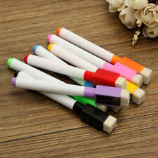 8pcs Color Magnet Pen Magnetic Dry Wipe White Board Markers Built In Erase