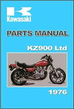 KAWASAKI Parts Manual KZ900LTD KZ900 Z1 Z900 LTD KZ900-B1 1976 Spares Catalog