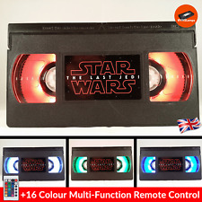 📼 Retro USB VHS Lamp | Star Wars Last Jedi Geek Gift Present Mancave | +Remote