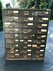Vintage Green Metal Apothecary/Industrial Cabinet