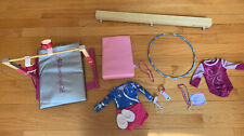 American Girl Lot Of Gymnastic Gear Leotards Balance Beam Mat Hulahoop And More