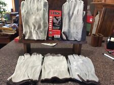 West Chester Leather Split Cowhide Driving Gloves- 5 Pack- Large