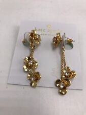 $58  Kate Spade SHINE ON PAVE FLOWER EARRING JACKETS  Earrings Gold-tone M43